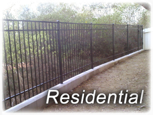Residential Aluminum Fence - Shipped Assembled